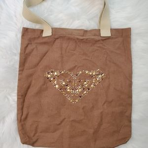 Roxy Fabric Brown Tote